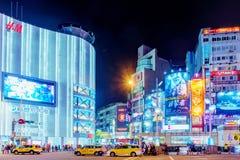 Secteur d'achats de Ximen la nuit Image stock