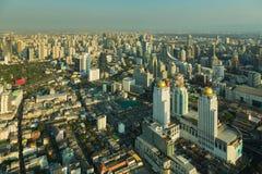 Secteur d'activité de ville de Bangkok de vue aérienne du centre Images libres de droits