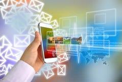 Secteur d'affaires de la téléphonie mobile de génération image stock