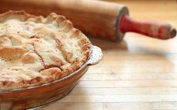 Secteur d'Apple cuit au four par maison Images stock