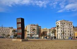 Secteur de Barceloneta et la plage de la ville de Barcelone photographie stock