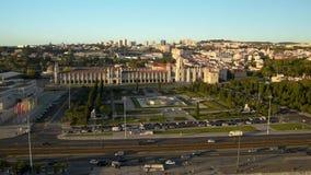 Secteur de Belem à Lisbonne banque de vidéos