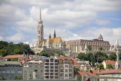 Secteur de Buda Castle et église gothique de style de Matthias photos stock