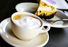 Secteur de café et de chocolat Photos stock