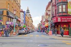 Secteur de Chinatown à San Francisco, Etats-Unis photographie stock libre de droits