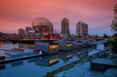 Secteur de False Creek ? Vancouver Canada image libre de droits