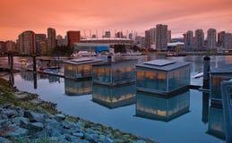 Secteur de False Creek ? Vancouver Canada photographie stock libre de droits