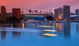 Secteur de False Creek ? Vancouver Canada images libres de droits
