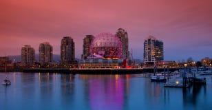 Secteur de False Creek ? Vancouver Canada photographie stock