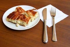 Secteur de fromage - Borek Image stock