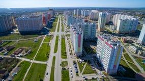 Secteur de la ville avec de nouveaux bâtiments image libre de droits