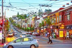 Secteur de la ville de Castro, groupe de culture gaie de la lesbienne LGBT image libre de droits