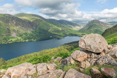 Secteur de lac Buttermere, lac, Cumbria Images stock