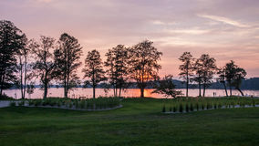 Secteur de lac Mazury Image libre de droits