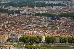 Secteur de Les Terreaux à Lyon, France Photos stock