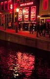 Secteur de lumière rouge à Amsterdam Image stock