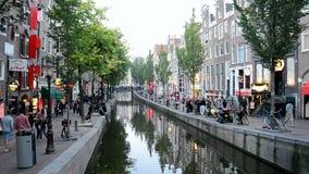 Secteur de lumière rouge à Amsterdam, Pays-Bas, Photo stock