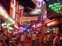 Secteur de lumière rouge de Bangkok la nuit Image libre de droits