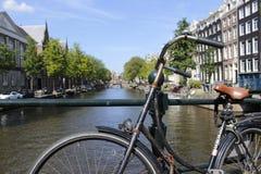 Secteur de lumière rouge de vélo Hollande images libres de droits