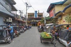 Secteur de lumière rouge de ville d'Angeles Philippines Photo libre de droits