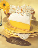 Secteur de meringue de citron Photographie stock