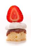 Secteur de meringue de fraise Photo stock
