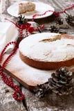 Secteur de Noël avec du sucre en poudre Photographie stock libre de droits