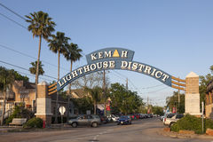 Secteur de phare de Kemah, le Texas Image stock
