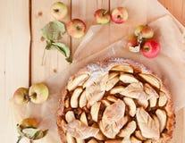 Secteur de pomme fait maison Image libre de droits