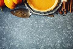 Secteur de potiron Concept de nourriture de jour de thanksgiving image stock