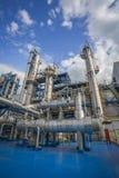 Secteur de processus d'usine de raffinerie Images libres de droits