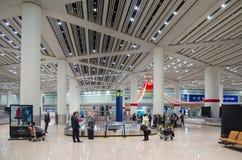 Secteur de réclamation de bagage d'aéroport dans Pékin Image stock