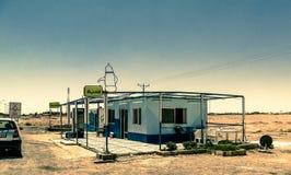 Secteur de relais d'autoroute dans le désert, Jordanie images libres de droits