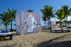 Secteur de repos spectaculaire dans la plage Image stock