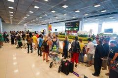 Secteur de retrait des bagages d'aéroport de Suvarnabhumi Photo libre de droits