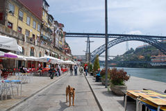 Secteur de Ribeira à Porto, Portugal image libre de droits