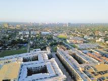 Secteur de salle de vue aérienne quatrième à l'ouest de Houston du centre, le Texas images stock