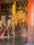 Secteur de trône et de cour du ` s d'empereur dans le Hall de Harmony Taihedian suprême Photographie stock libre de droits