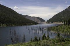 Secteur de tremblement de terre de Madison River Canyon au Montana Photos stock