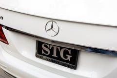 Secteur de tronc de Mercedes Benz image libre de droits