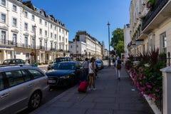 Secteur de voisinage de Pimlico à Londres, R-U images stock