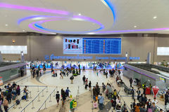 Secteur domestique de départs de Don Mueang International Airport dedans Photographie stock libre de droits