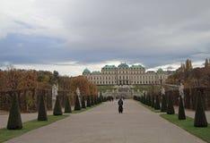 Secteur du belvédère complexe de parc-jardin, Vienne photos stock