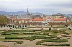 Secteur du belvédère complexe de parc-jardin, Vienne image stock
