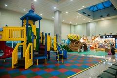 Secteur du terrain de jeu des enfants de terminal d'aéroport international de Taoyuan Images libres de droits
