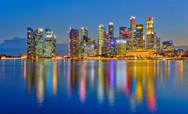Secteur financier d'affaires de Singapour Photo libre de droits