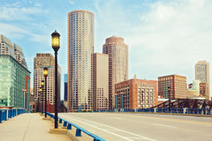 Secteur financier de Boston Boston, le Massachusetts, Etats-Unis Images stock
