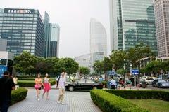Secteur financier de Changhaï photo libre de droits