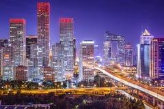 Secteur financier de Pékin Images libres de droits