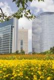 Secteur financier de Shiodome, Tokyo Images stock